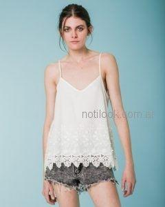 blusa blanca musculosa Wanama primavera verano 2019
