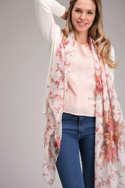 blusa broderie rosa para señoras Brandel primavera verano 2019