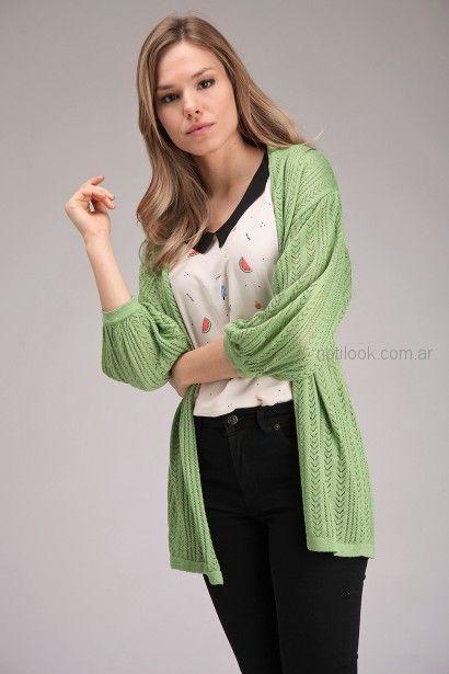 blusa estampada con cardigan largo Brandel primavera verano 2019