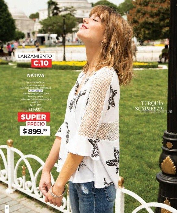 blusa look urbano mujer martina di trento verano 2019
