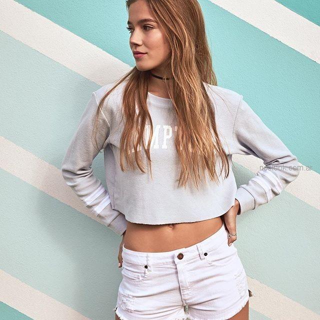 buzo de algodon estilo top para adlescentes Como Quieres Que Te Quiera verano 2019