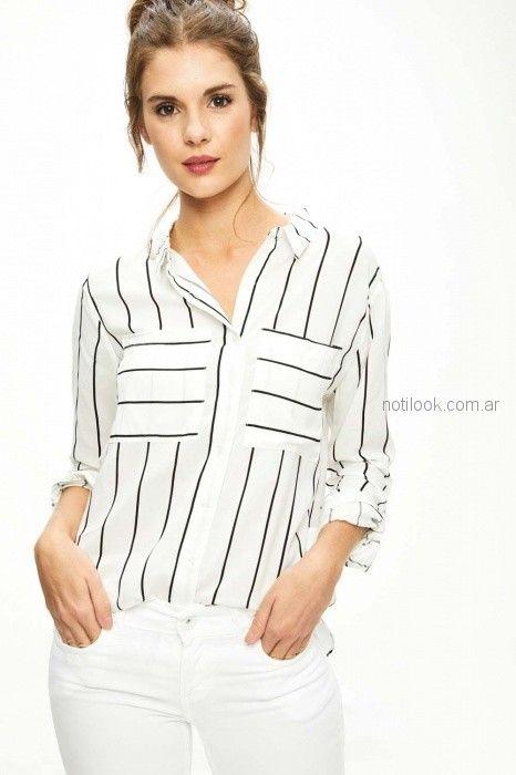 camisa a rayas para mujer primavera verano 2019 - Sweet