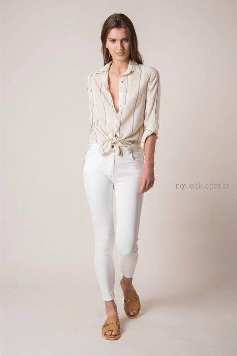 7b681e22aed7 camisa mangas largas a rayas mujer Sarawak moda para señoras verano ...