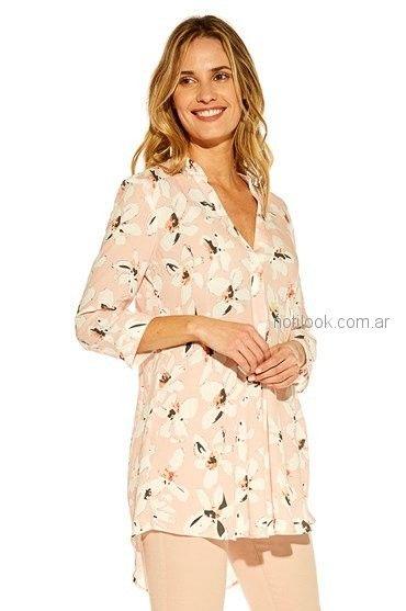 camisa rosa estampada Mirta Armesto verano 2019