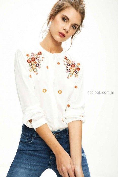 camisola blanca bordada primavera verano 2019 - Sweet