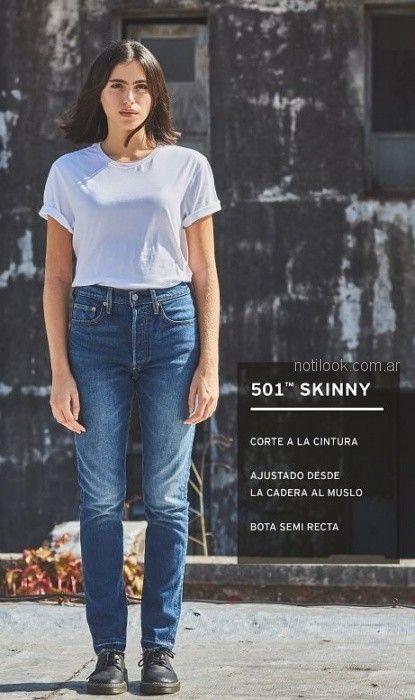 jeans con desteñidos Levis mujer verano 2019