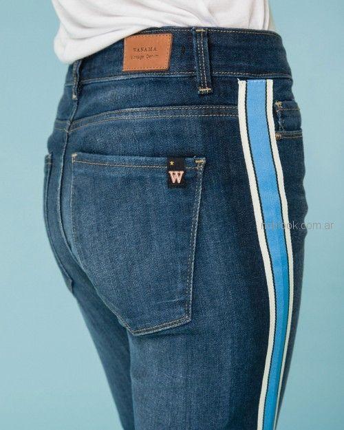 jeans con guardas a los costados Wanama primavera verano 2019