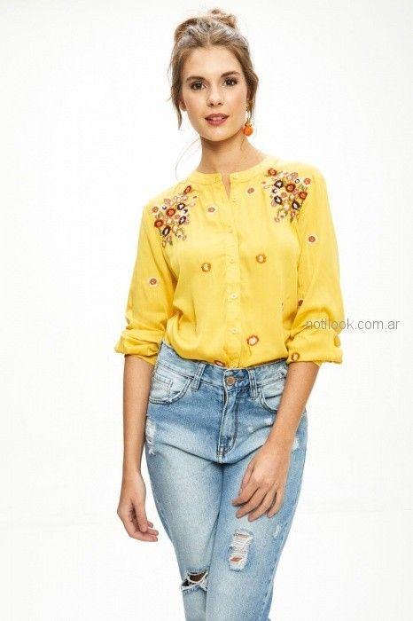 jeans con roturas primavera verano 2019 - Sweet
