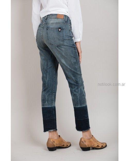 jeans teñidos Wanama primavera verano 2019