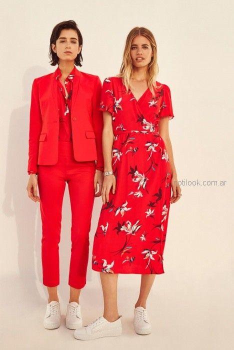 look mujer oficina rojo verano 2019 - Vitamina
