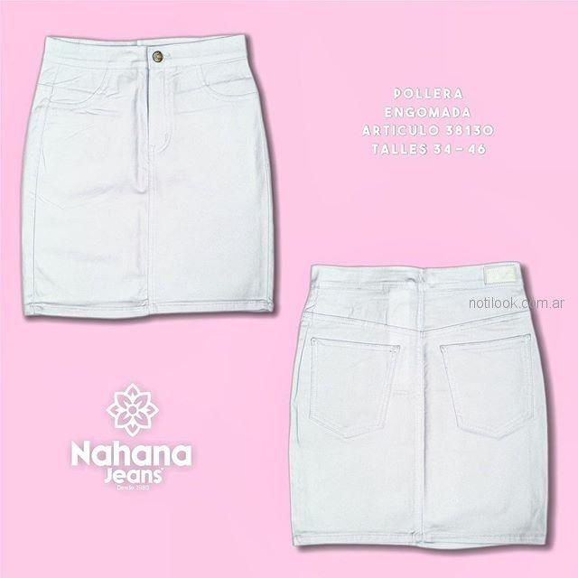 minifalda jeans blanca - Nahana verano 2019