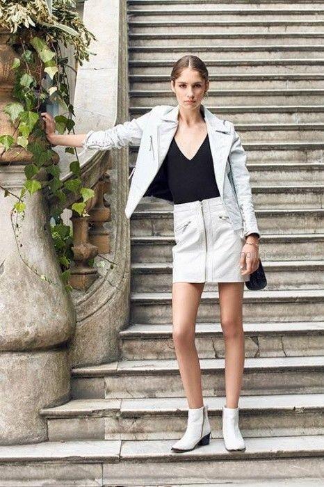3d90f68ef minifalda y campera cuero Uma primavera verano 2019 – Moda Mujer ...