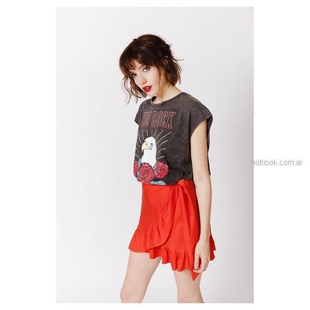 musculosa look casual rock teenager Sofia Caputo primavera verano 2019