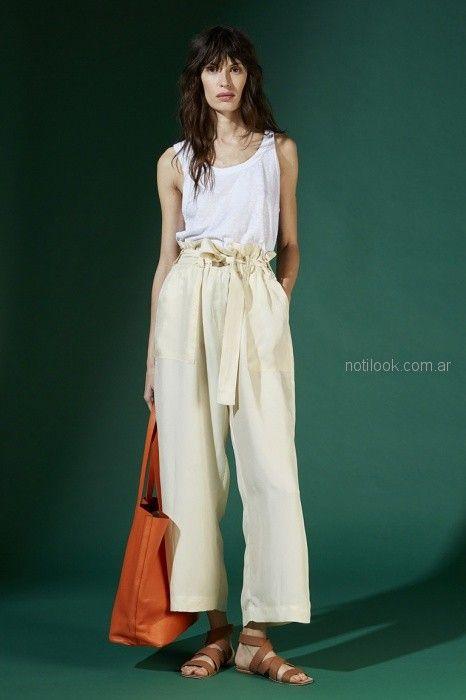 pantalon ancho con lazo Maria Cher primavera verano 2019