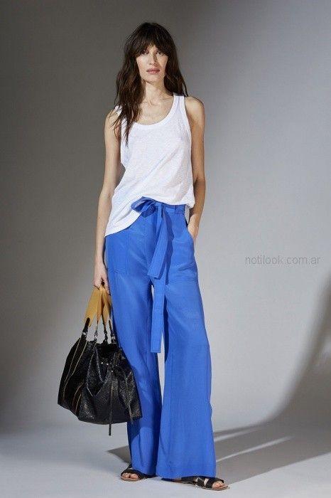 pantalon ancho palazzo azul francia Maria Cher primavera verano 2019