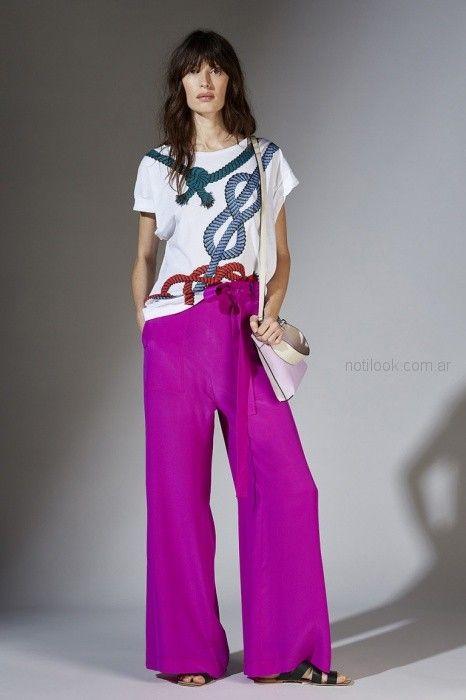 pantalon ancho palazzo fucsia Maria Cher primavera verano 2019