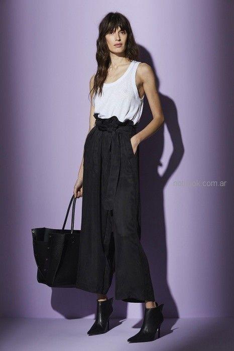 pantalon ancho palazzo pantacort Maria Cher primavera verano 2019