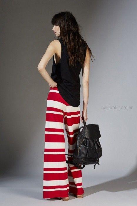 pantalon ancho palazzo rayado Maria Cher primavera verano 2019