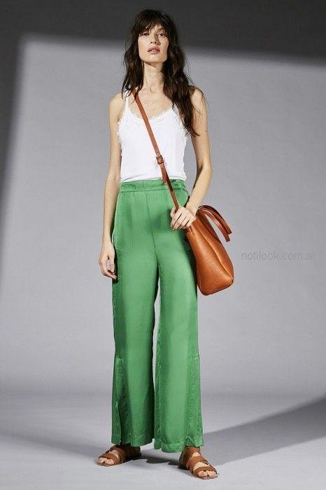pantalon ancho palazzo verde Maria Cher primavera verano 2019