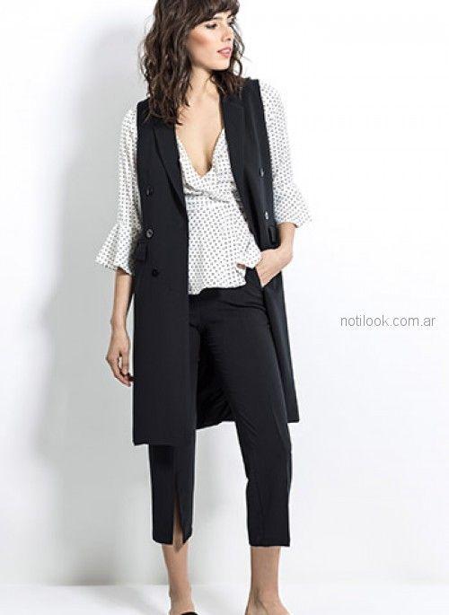 pantalon de vestir capri y chaleco sastrero look oficina Activity Primavera verano 2019