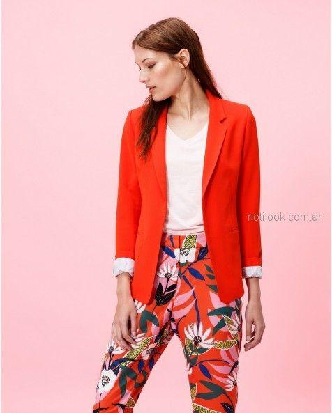 pantalon de vestir estampado verano 2019 - Portsaid