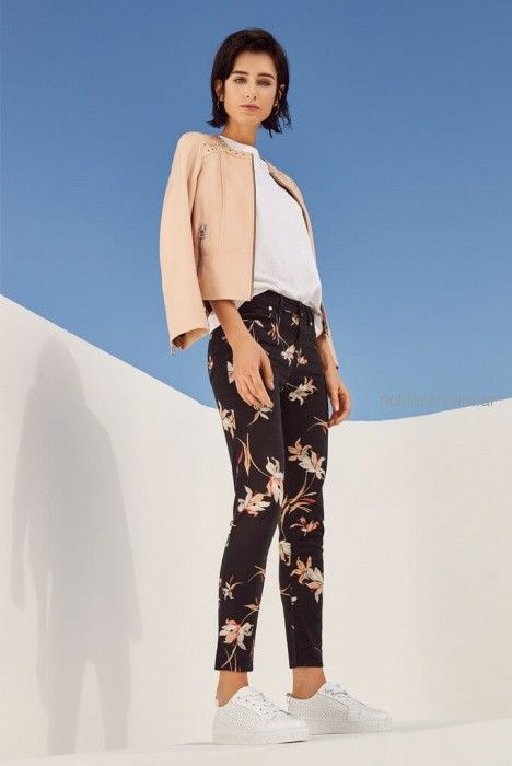 pantalon estampado mujer verano 2019 , Vitamina
