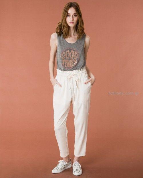 Pantalon Tiro Alto De Lino Wanama Primavera Verano 2019 Notilook Moda Argentina