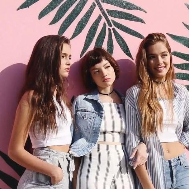 Pantalones A Rayas Y Top Para Adolescentes Como Quieres Que Te Quiera Verano 2019 Notilook Moda Argentina