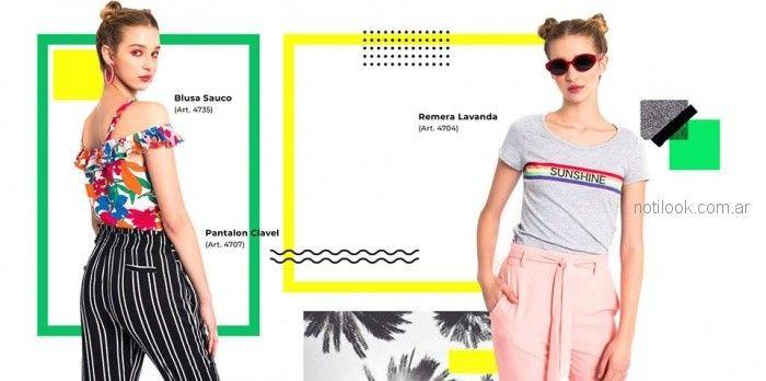 remeras basicas y blusas casual moda teenager love this verano 2019