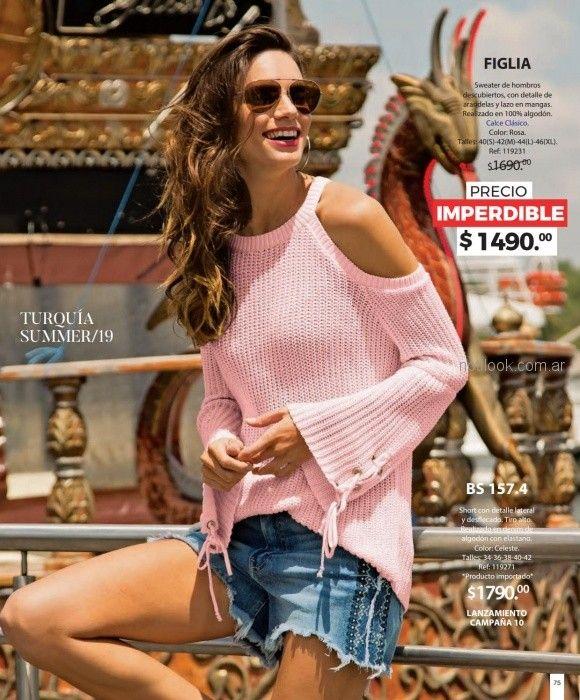 sweater hilo mangas acampanadas martina di trento verano 2019