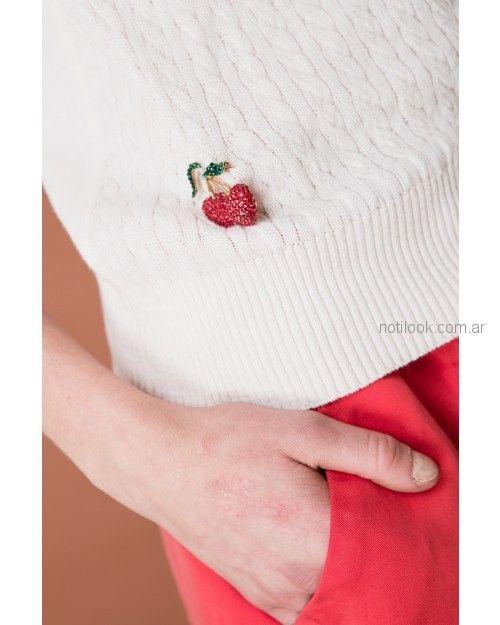 sweater mujer con apliques Wanama primavera verano 2019