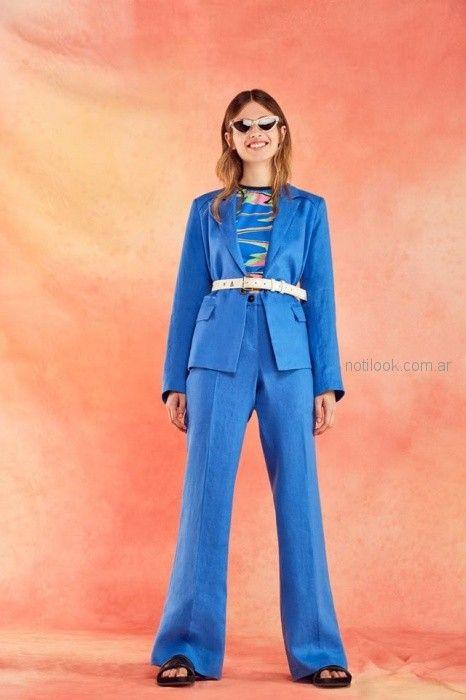 traje para mujer turquesa verano 2019 - Ayres