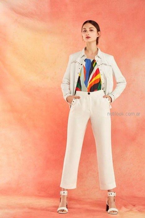 vampera jeans blanca y pantalon de vestir verano 2019 - Ayres