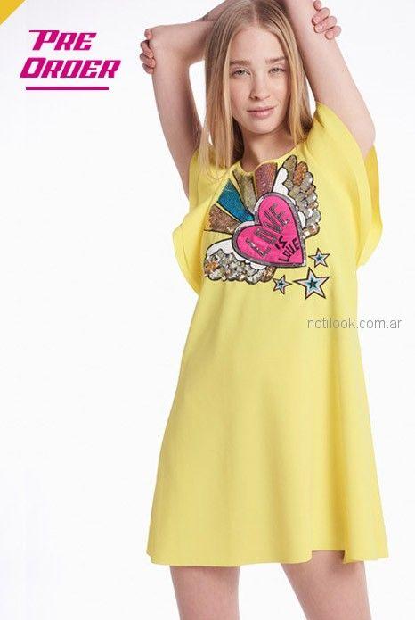 vestido amarillo casual juvenil Agustina Saquer verano 2019