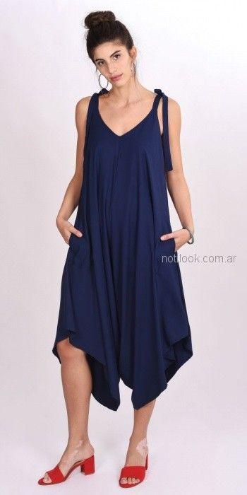 vestido azul para el dia para señoras Pablo Mei primavera verano 2019