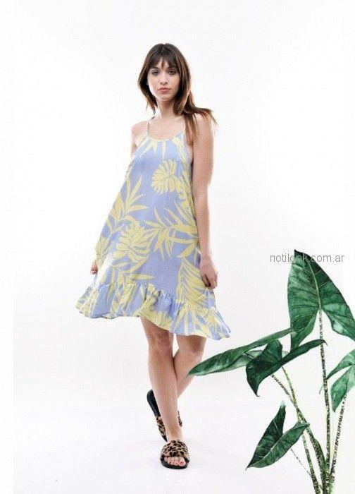 vestido corto de fibrana mujer Baloop verano 2019