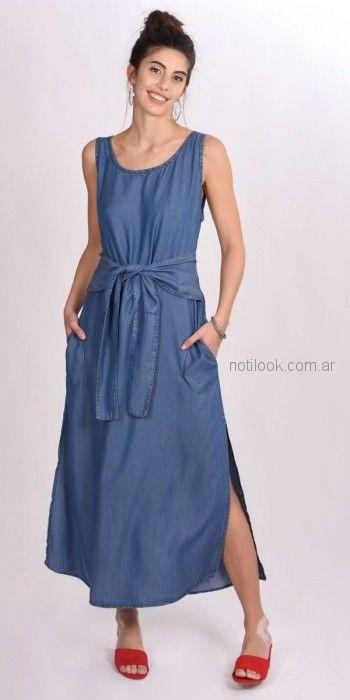 vestido denim para señoras Pablo Mei primavera verano 2019