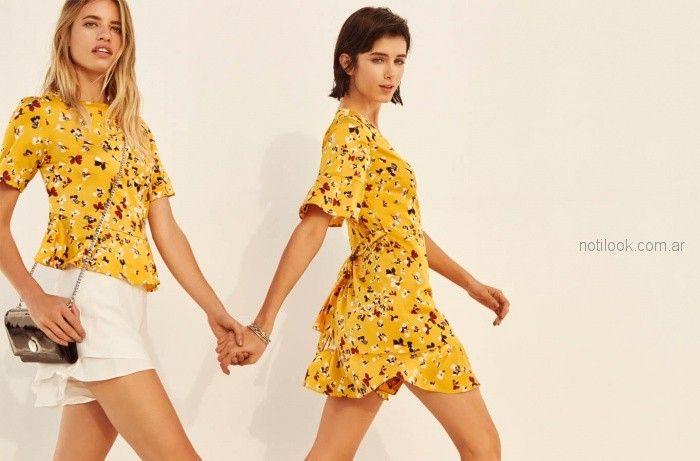 vestidos cortos estampados verano 2019 - Vitamina