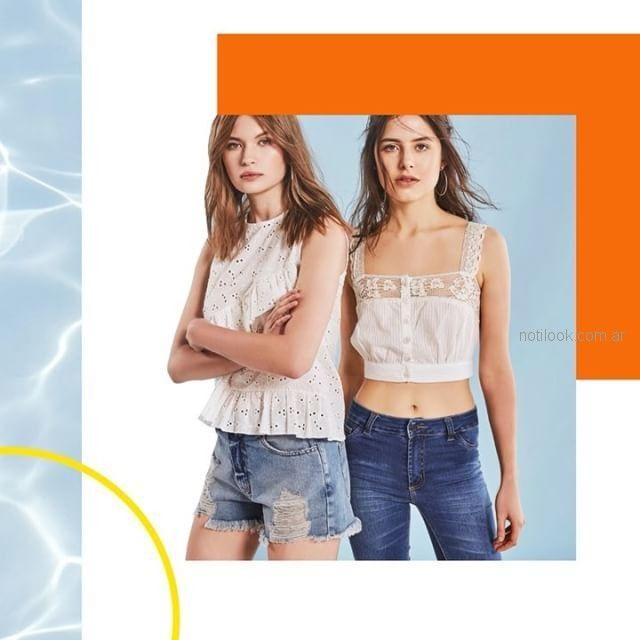 Inversa - blusas de encaje y broderie - moda urbana verano 2019