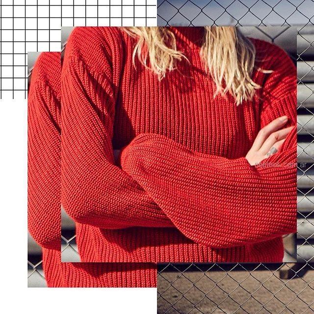 Inversa - sweater tejido rojo - moda urbana verano 2019