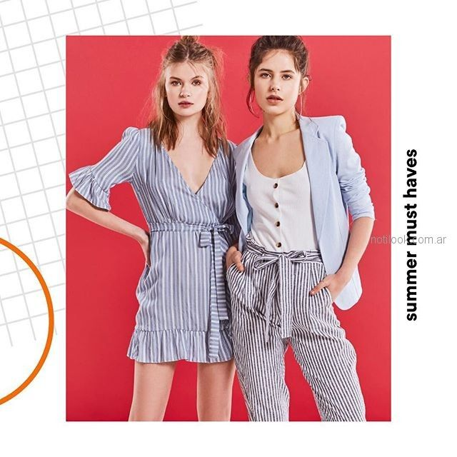 Inversa - vestidos y pantalones a rayas - moda urbana verano 2019