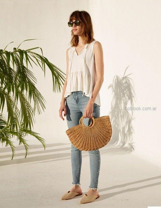 Jeans chupin con blusa blanca verano 2019 - Koxis - ropa juvenil