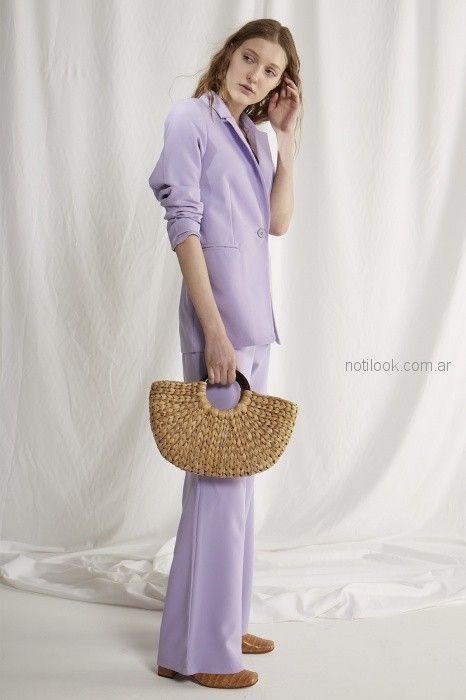 blazer y pantalon de vestir lila Bled verano 2019
