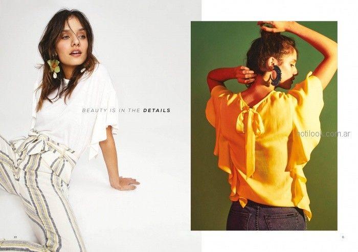blusa amarilla juvenil verano 2019 - Inedita Argentina
