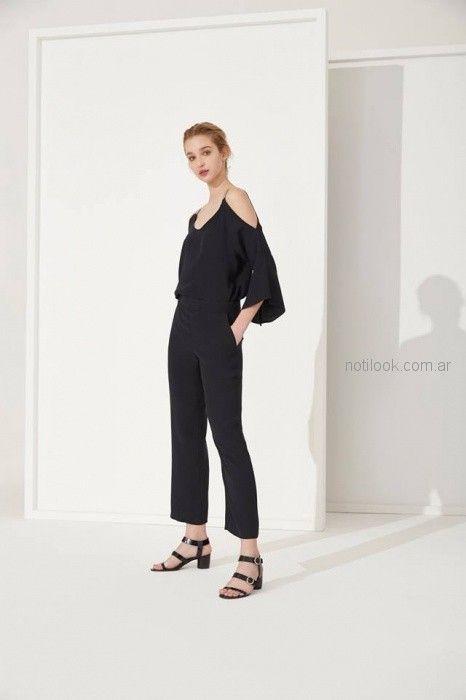 blusa negra Carmela Achaval primavera verano 2019