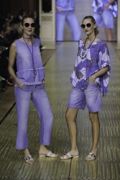 blusas y pantalon denim para señoras Adriana Costantini primavera verano 2019