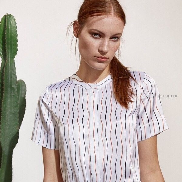 camisa de seda para mujer Etiqueta Negra mujer verano 2019