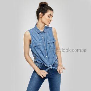 camisa denim mujer Taverniti verano 2019