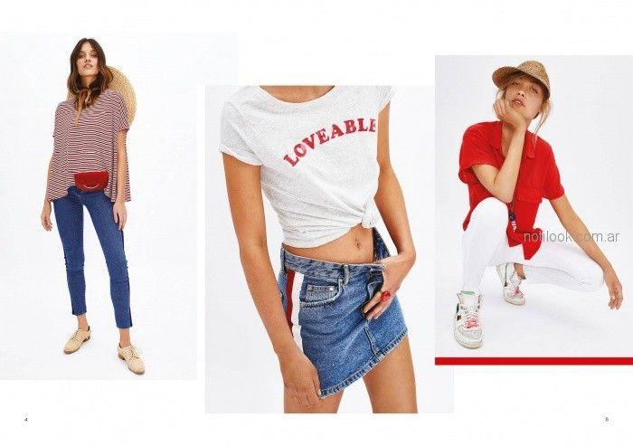 camisa roja con pantalon blanco verano 2019 - Inedita Argentina