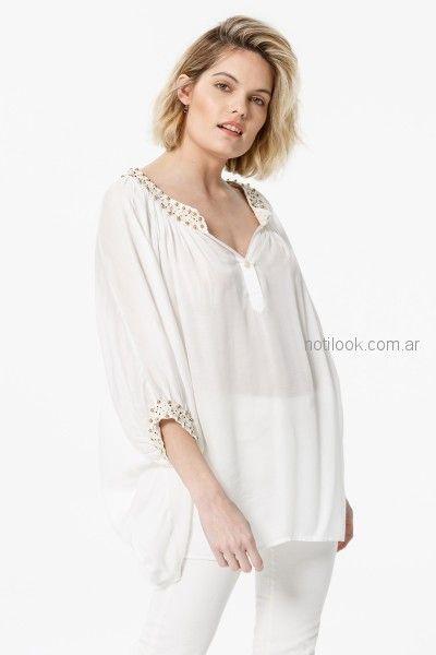 camisola blanca verano 2019 - India Style